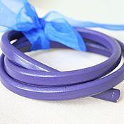 Материалы для творчества ручной работы. Ярмарка Мастеров - ручная работа Шнур 10х6,5 кожаный, фиолетовый. Handmade.