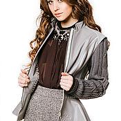 Одежда ручной работы. Ярмарка Мастеров - ручная работа Куртка кожаная серого цвета. Handmade.