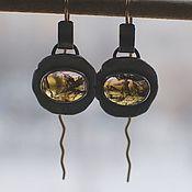 Украшения handmade. Livemaster - original item Tourmaline earrings, silver and Goldfield. Handmade.