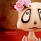 Коллекционные куклы ручной работы. Хеллоуинка  Бригида. MARIDOLL           Сафронова Марина. Ярмарка Мастеров. Подарок подруге, вечеринка хеллоуин, цветы