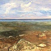 Картины и панно handmade. Livemaster - original item Pictures: Oil painting Amber Coast. Baltika. Handmade.