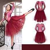 Работы для детей, ручной работы. Ярмарка Мастеров - ручная работа Балетное трико платье 32. Handmade.