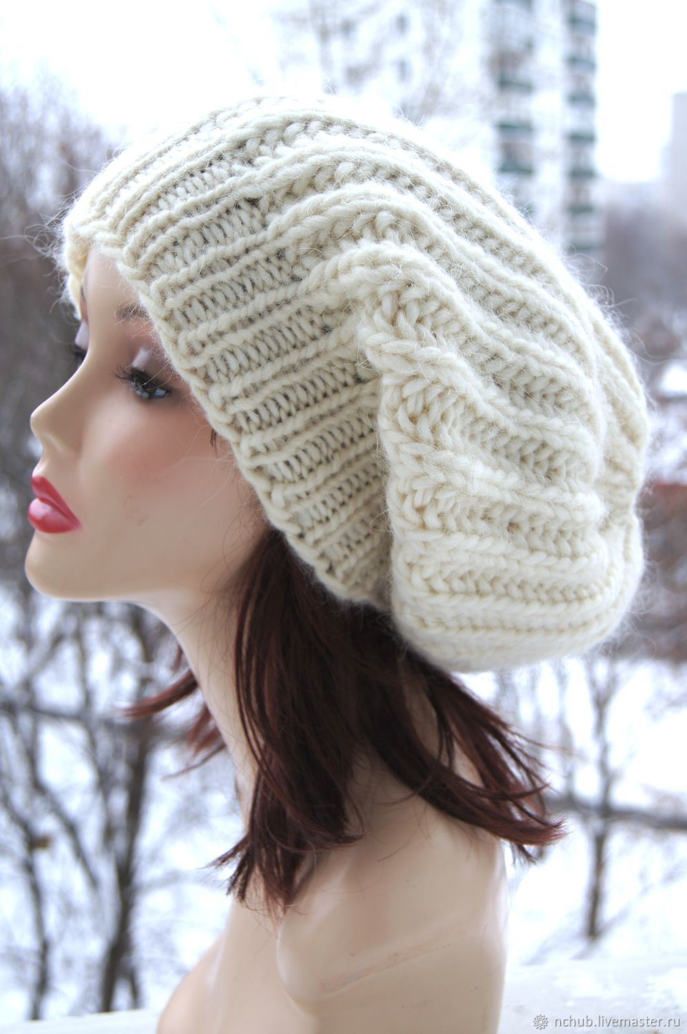 b0bc5ac8a882a Little · Berets handmade. Takes the White knit bulk from thick Icelandic  wool 100.