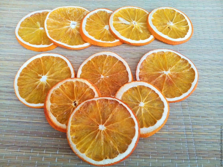 Как сделать дольки апельсина для декора