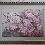 Картины и панно ручной работы. Ярмарка Мастеров - ручная работа Ветка сакуры. Handmade.