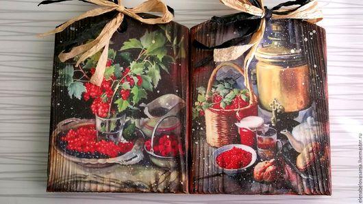 """Кухня ручной работы. Ярмарка Мастеров - ручная работа. Купить """" и гроздья калины красной"""". Handmade. Коричневый, кухня, фрукты"""