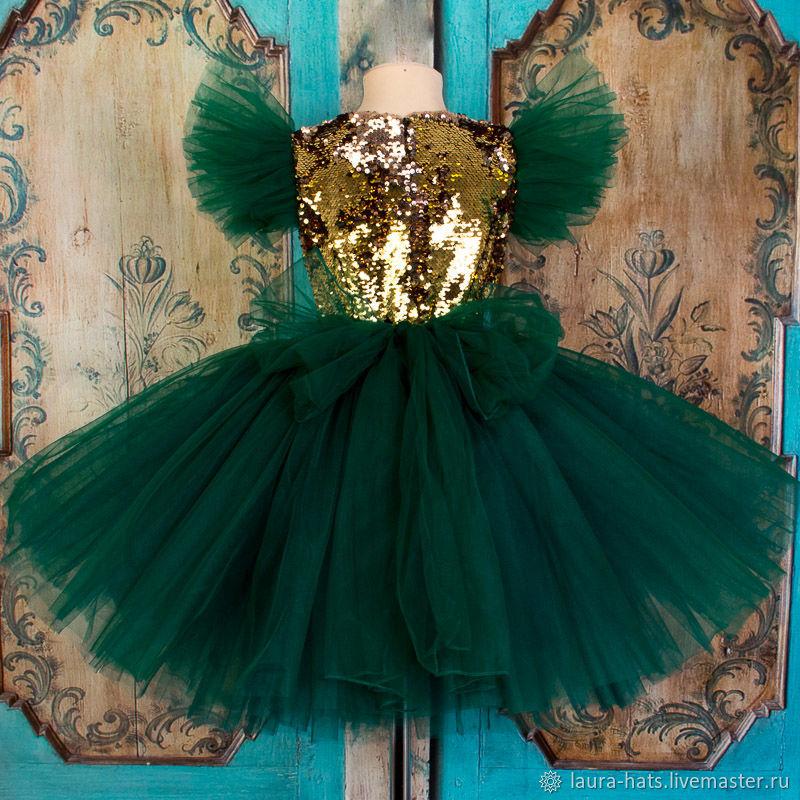 Нарядное платье для девочки на выпускной Детское пышное платье