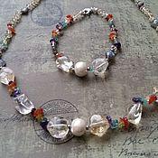 Украшения handmade. Livemaster - original item Chakra bracelet and necklace set. Handmade.