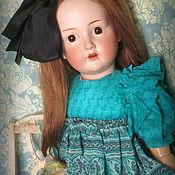 Куклы и игрушки ручной работы. Ярмарка Мастеров - ручная работа Шелковое платье для антикварной куклы.. Handmade.