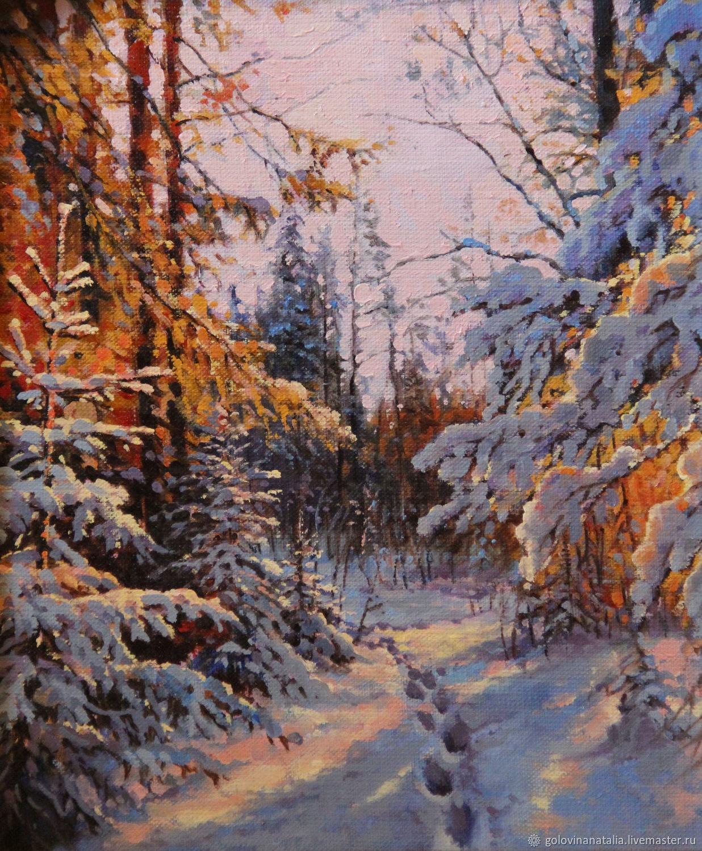 Картина маслом,пейзаж, Зимними тропами, Картины, Рязань,  Фото №1