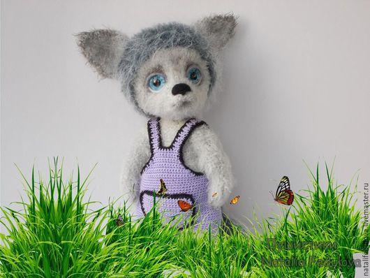 мягкая игрушка, волк, волчонок, купить игрушку, вязаная игрушка, игрушка вязаная крючком, подарок ручной работы,