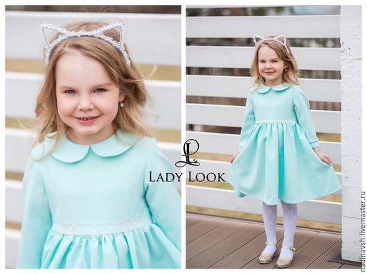 Одежда для девочек, ручной работы. Ярмарка Мастеров - ручная работа. Купить Платье для девочки. Handmade. Платье для девочки, мятный