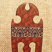 """Украшения ручной работы. Ярмарка Мастеров - ручная работа Шпилька испанская """"Кармэн"""" с деревянной мозаикой, лайсвуд. Handmade."""