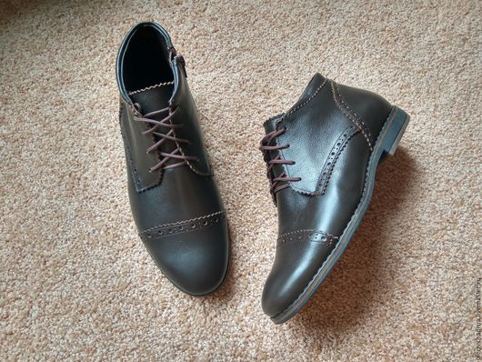 Обувь ручной работы. Ярмарка Мастеров - ручная работа. Купить Мужские ботинки Pierre Chaqrua. Handmade. Коричневый, осенняя обувь