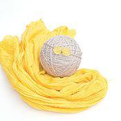 Работы для детей, handmade. Livemaster - original item A gauze wrapping for the photo shoot newborn meditates, wearing YELLOW. Handmade.