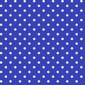 Материалы для творчества ручной работы. Ярмарка Мастеров - ручная работа Бязь синяя в горошек. Handmade.