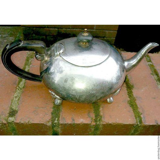 Винтажная посуда. Ярмарка Мастеров - ручная работа. Купить 103 Винтажный чайник стальной на ножках. Handmade. Серебряный, винтажный чайник