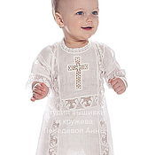 Работы для детей, handmade. Livemaster - original item Baptismal shirt Vologda lace 214. Handmade.