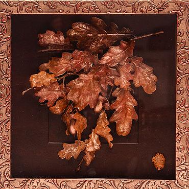 """Картины и панно ручной работы. Ярмарка Мастеров - ручная работа Дерево долголетия от """"VivantArt"""" красное золото. Handmade."""