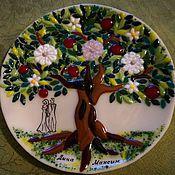 """Посуда ручной работы. Ярмарка Мастеров - ручная работа Тарелочка """"Дерево жизни""""-фьюзинг. Handmade."""