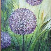 """Картины и панно ручной работы. Ярмарка Мастеров - ручная работа Картина """"Цветущий лук"""". Handmade."""