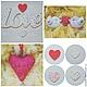 Подарки для влюбленных ручной работы. Ярмарка Мастеров - ручная работа. Купить Подарки любимым (слово Love, сердечки-подвески, сердечки-броши). Handmade.