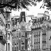 Картины и панно ручной работы. Ярмарка Мастеров - ручная работа Черно белый Париж картины для интерьера «Улица Дантон». Handmade.