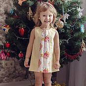 Работы для детей, ручной работы. Ярмарка Мастеров - ручная работа Платье для девочки в полоску. Handmade.