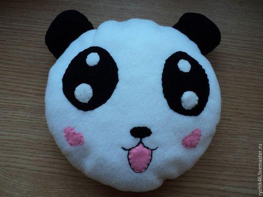 Текстиль, ковры ручной работы. Ярмарка Мастеров - ручная работа. Купить Подушка-игрушка Панда. Handmade. Чёрно-белый, подушка