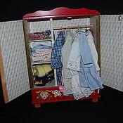 Игрушки винтажные ручной работы. Ярмарка Мастеров - ручная работа Деревянный шкафчик для одежды. Handmade.