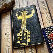 Обложки ручной работы. Ярмарка Мастеров - ручная работа Обложка для паспорта из кожи Музыка. Handmade.