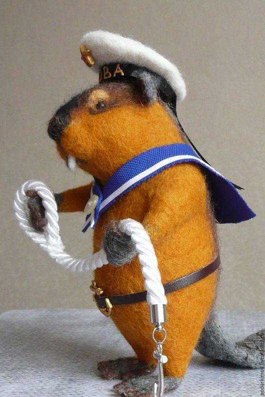 """Игрушки животные, ручной работы. Ярмарка Мастеров - ручная работа. Купить Бобер .""""ВОВА """"Авторская валяная игрушка. Handmade. Комбинированный"""