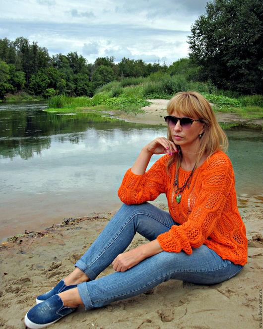 """Кофты и свитера ручной работы. Ярмарка Мастеров - ручная работа. Купить свитер """"Вот и лето прошло... """". Handmade. Рыжий"""