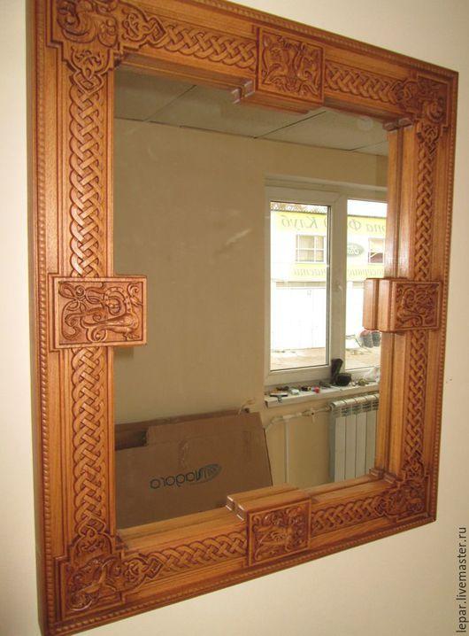 Зеркала ручной работы. Ярмарка Мастеров - ручная работа. Купить Зеркало со сказочными зверушками.. Handmade. Коричневый, красивое зеркало