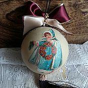 """Подарки к праздникам ручной работы. Ярмарка Мастеров - ручная работа Большой шар """" Рождественский ангел"""". Handmade."""