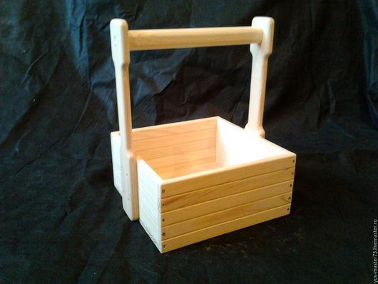 Корзины, коробы ручной работы. Ярмарка Мастеров - ручная работа. Купить декоративный ящик (м-10). Handmade. Желтый, короб