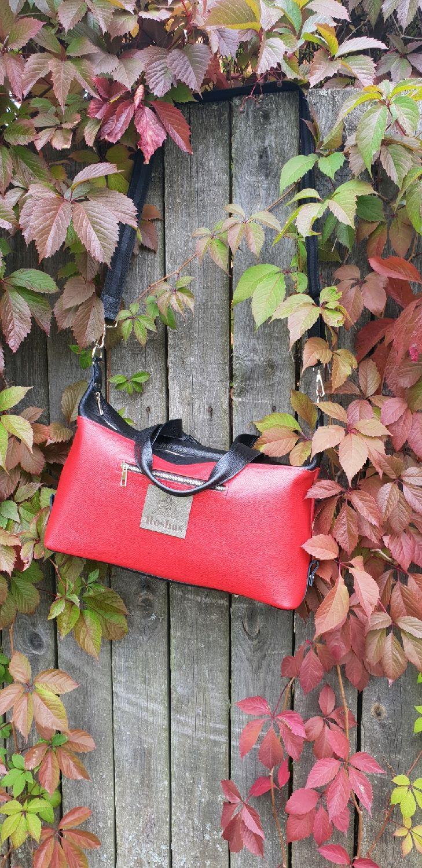 Спортивная дорожная сумка из натуральной кожи красная, Спортивная сумка, Москва,  Фото №1