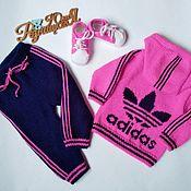 Одежда детская handmade. Livemaster - original item Adidas tracksuit for girls. Handmade.