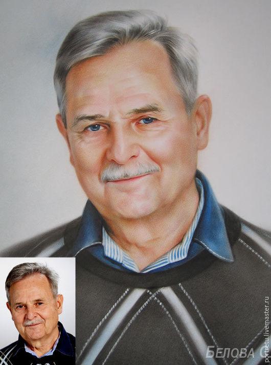 Люди, ручной работы. Ярмарка Мастеров - ручная работа. Купить Мужской портрет. Handmade. Комбинированный, мужской подарок, мужчине