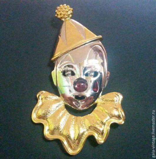 Винтажные украшения. Ярмарка Мастеров - ручная работа. Купить -50% Брошь-подвес Клоун 1960е США винтаж брошь винтажная. Handmade.