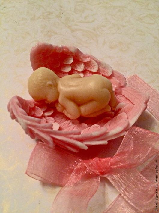 Мыло ручной работы. Ярмарка Мастеров - ручная работа. Купить мыло Малыш в крыльях. Handmade. Разноцветный, мыло сувенирное опт
