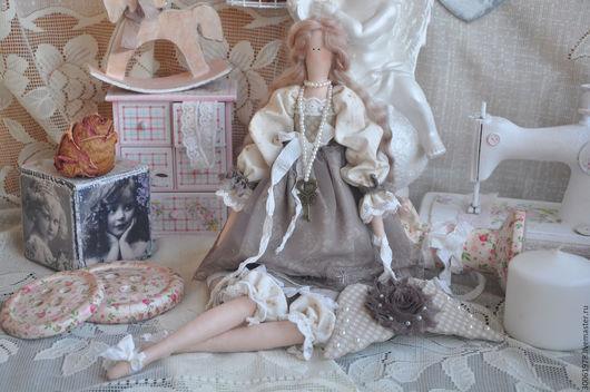 """Куклы Тильды ручной работы. Ярмарка Мастеров - ручная работа. Купить Кукла в стиле Тильда """"Безмятежность"""". Handmade. Бежевый"""