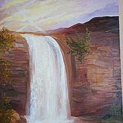 Картины и панно ручной работы. Ярмарка Мастеров - ручная работа Золотой водопад. Handmade.