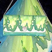 Сумки и аксессуары ручной работы. Ярмарка Мастеров - ручная работа Клатч Изумрудный мираж. Handmade.