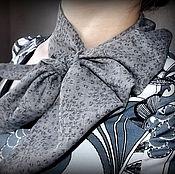 Аксессуары ручной работы. Ярмарка Мастеров - ручная работа Косынка французская льняная. Оригинальный платок на шею.. Handmade.