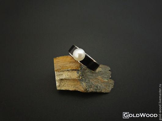 Кольца ручной работы. Ярмарка Мастеров - ручная работа. Купить Кольцо Pearl. Handmade. Натуральный жемчуг, деревянное кольцо