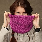 Аксессуары handmade. Livemaster - original item Snood Berry for those who don`t like hats. Handmade.