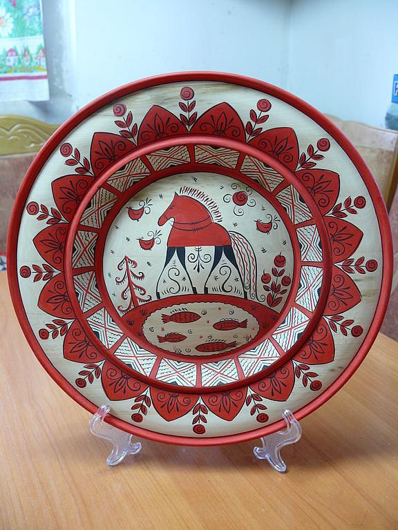 Блюдо расписное, Тарелки, Кунгур, Фото №1