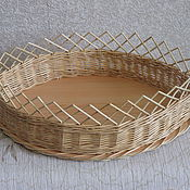 Для дома и интерьера handmade. Livemaster - original item A wicker basket on the table for bread, biscuits. Handmade.