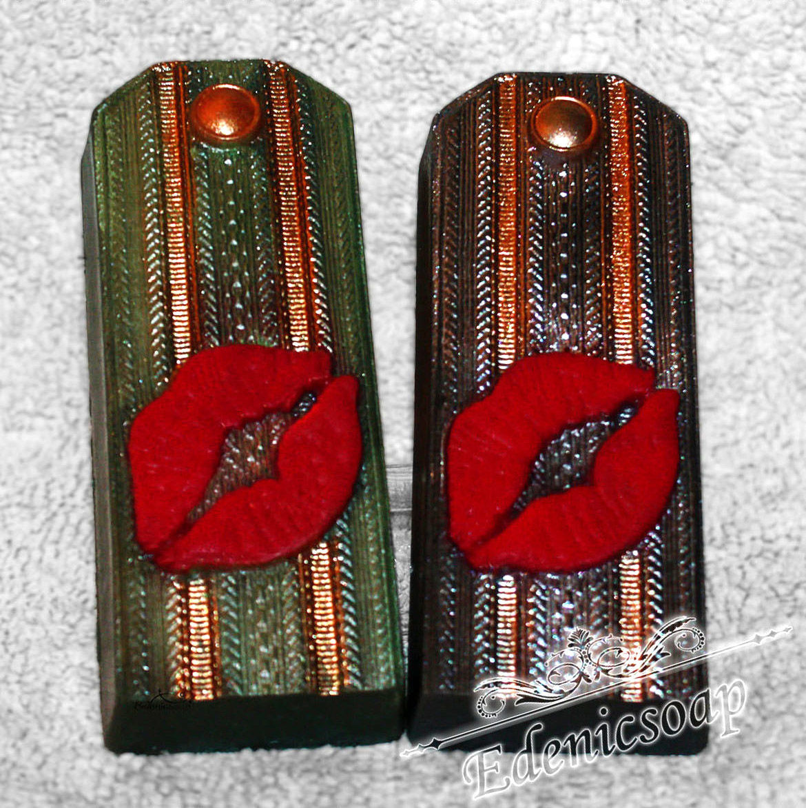 Souvenir handmade 'shoulder Strap with a kiss' soap gift military, Soap, Moscow,  Фото №1